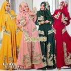 Gaun pesta muslim mewah dan elegan De'luxe mubarak 1 Goeboeg