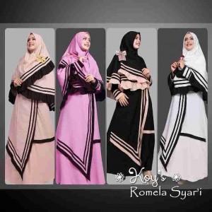 Model baju gamis modern terbaru Romela Koys