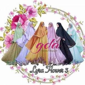 Model baju gamis terbaru lyra flowers vol 3
