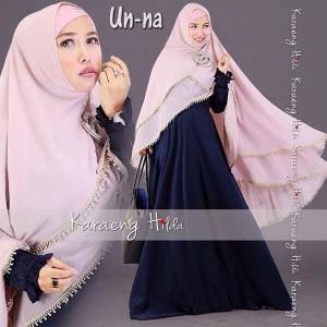Model baju muslim gamis syar'i Un-na Karaeng Hilda