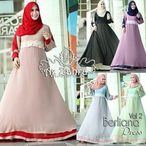Baju Gamis Modern Berlina Dress Azzahra