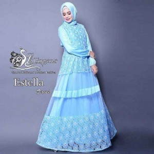 Baju Muslim Brokat Estella Dress Lil Gorgeous