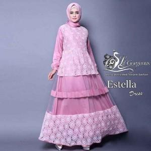 Baju Muslim Brokat Estella Dress Lil Gorgeous