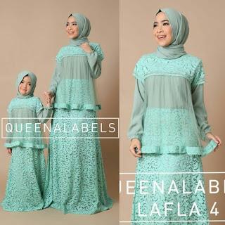 Baju anak dan ibu 10 contoh baju muslim ibu dan anak Baju gamis couple ibu ayah anak