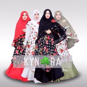 Model Baju Muslim Pesta Terbaru Zheta Syari Kynara