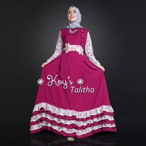 Jual Baju Busana Muslim Couple Keluarga Talitha Mom and Kids Koys