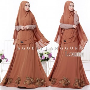 Model Baju Gamis Syar'i Terbaru Louna Agoesthanggono