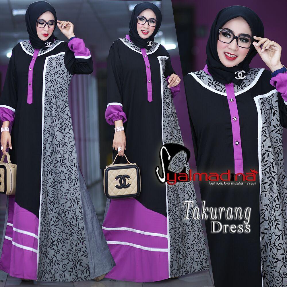 Model Baju Muslim Gamis Batik: Model Baju Muslim Gamis Batik Terbaru Takurang Syalmadina