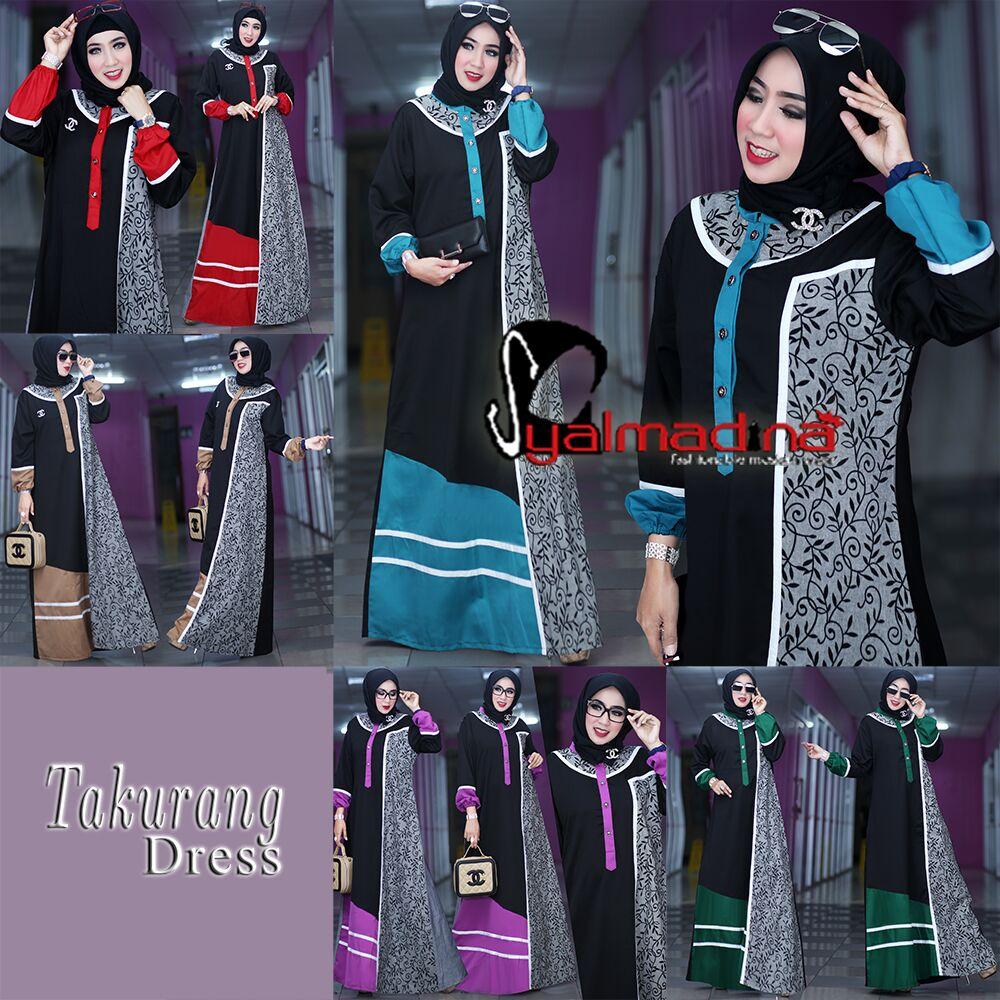Model Baju Muslim Gamis Batik Terbaru Takurang Syalmadina