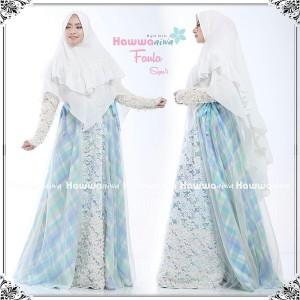 Baju Gamis brokat Terbaru Faula syari by Hawwa aiwa