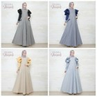 Jual busana muslim tebaru Selena dress by ummi