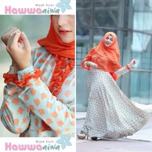 model baju muslim terbaru tanah abang 2015 murah wanita afia apple by hawwa aiwa