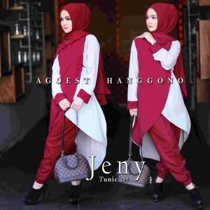 baju kerja muslim terbaru modis trendy modern online jeny tunic set by agoest hangono