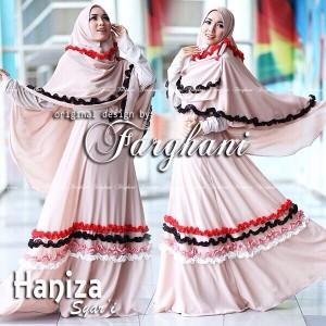 butik baju busana muslim gamis syar'i terbaru murah di bandung haniza by farghani
