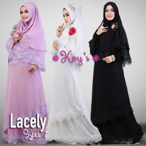 Grosir baju muslim gamis syari terbaru modern online murah 2015 thamrin city lacely dari koys