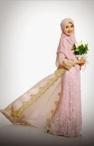 gaun pengantin muslimah simple dan elegan yang trendy di tahun 2015