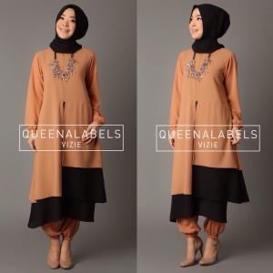 baju gamis pesta muslimah modern terbaru 2015 thamrin city vizie by queenalabels