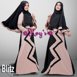 busana muslim baju gamis modern terbaru 2015 murah berkualitas blitz syari dari koys