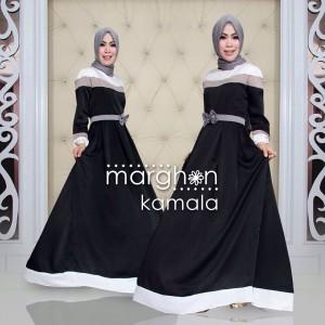 Gaun pesta muslimah mewah dan elegan dari marghon