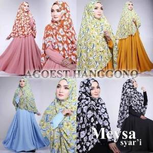 pakaian muslimah modern busana muslim trendy syari terbaru mesya by agoest hanggono