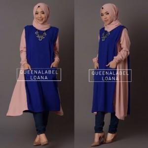 baju kerja wanita muslim modern model terbaru online loana by queenalabels