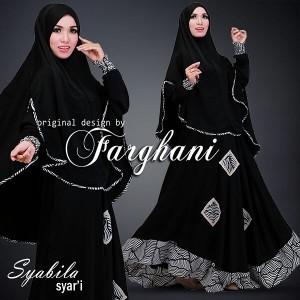 jual baju gamis modern terbaru terkini 2015 syabila syari by farghani