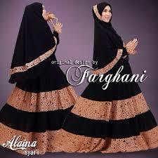 model busana muslim baju syari terbaru trendy murah alaina farghani