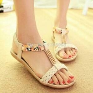 Sandal Flat Wanita Murah Terbaru