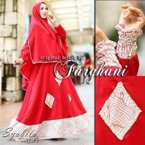 busana muslim model gamis modern terbaru 2016 baju syari syabila farghani