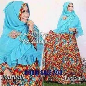 gamis batik syar'i modern murah terbaru marwah by azzahra
