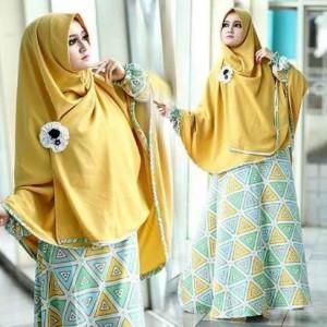 grosir baju muslim model gamis dan hijab syar'i laudia syar'i