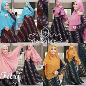 jual baju model gamis batik modern murah terbaru fitri syari azzahra