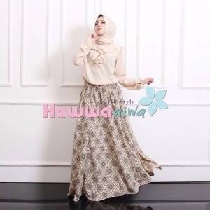 jual baju muslim trendy online terbaru murah puffy set hawwa aiwa