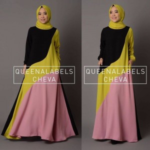 jual busana muslim model gamis modern terbaru new cheva queenalabels