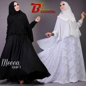 jual gaun muslim model gamis modern terbaru mecca syar'i by baenetta