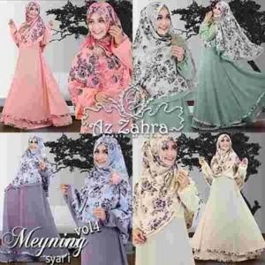 baju gamis dan hijab syar'i terbaru modern murah Meyning vol 4 azzahra