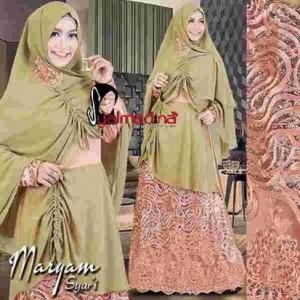 baju pesta muslim brokat model gamis modern terbaru maryam syar'i syalmadina