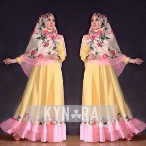 gaun pesta muslim mewah dan elegan model baju gamis Allura set by Kynara