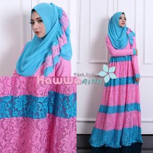 baju muslim model gamis modern terbaru 2016 selma brokat hawwa aiwa