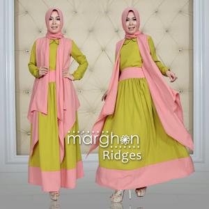 model baju gamis modern terbaru ridges marghon