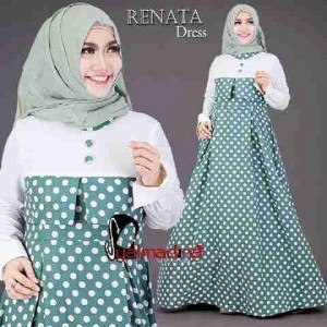 Busana muslim terbaru Renata dress by syalmadina