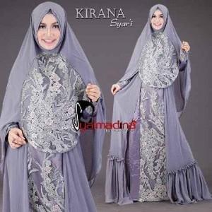 Gaun Pesta Muslim Model Gamis Kirana Syar'i Syalmadina