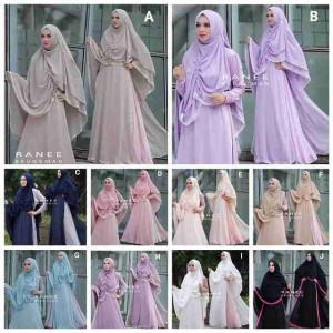 Baju Gamis Syar'i Terbaru Anna Set by Ranee Brugman